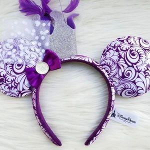 Disney Parks Purple Crown Velvet Minnie Mouse Ears